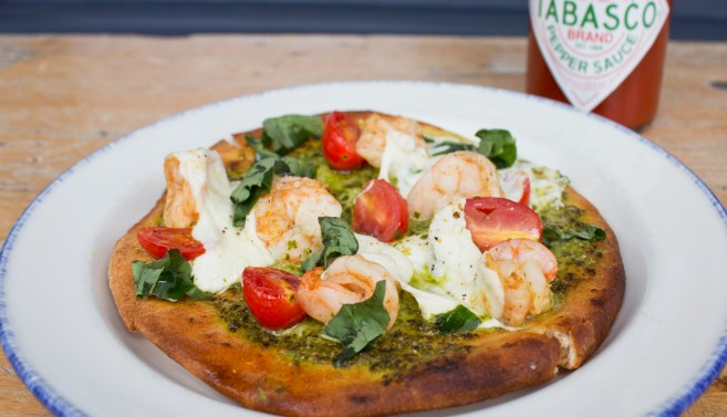 Spicy Shrimp Flatbread